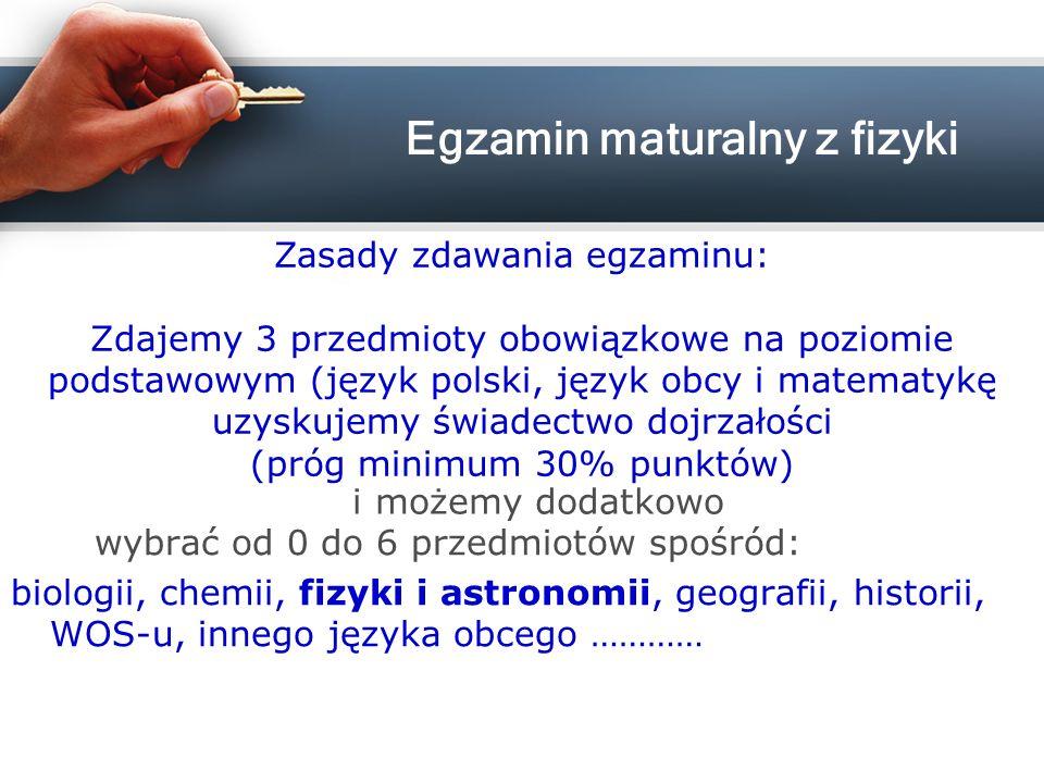 Egzamin maturalny z fizyki
