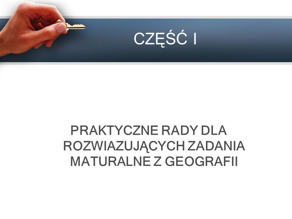 Aby najefektywniej przygotować się do matury z geografii należy: Zapoznać się z formą i strukturą egzaminu.