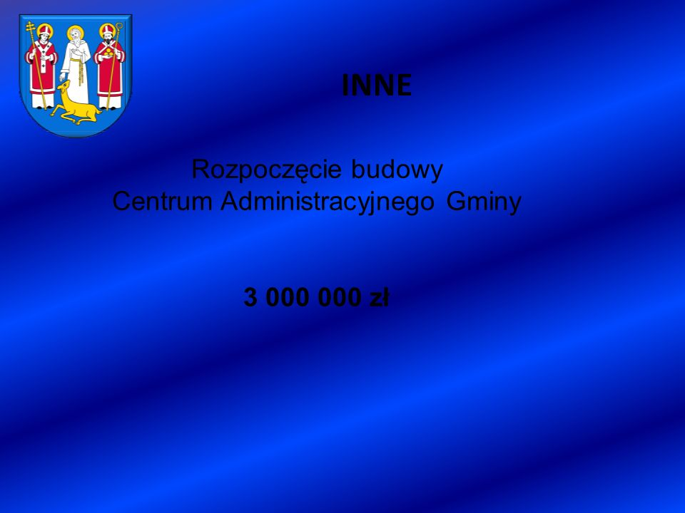 INNE Rozpoczęcie budowy Centrum Administracyjnego Gminy 3 000 000 zł