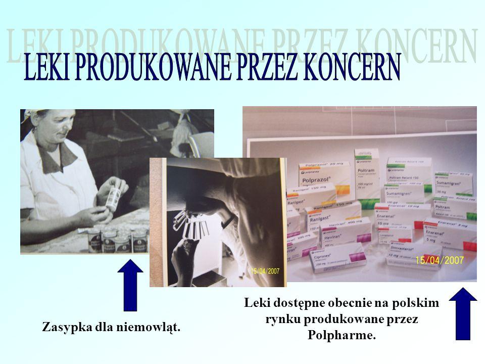 Zasypka dla niemowląt. Leki dostępne obecnie na polskim rynku produkowane przez Polpharme.