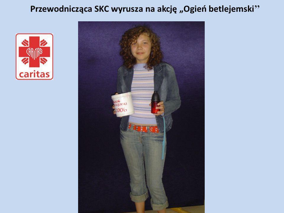 Przewodnicząca SKC wyrusza na akcję Ogień betlejemski