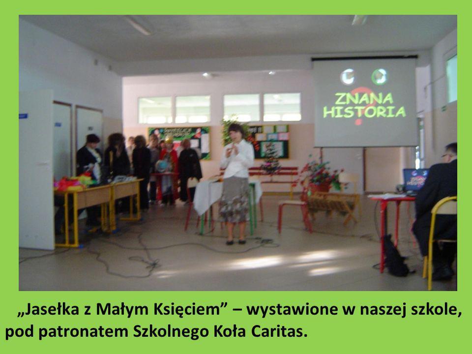 Jasełka z Małym Księciem – wystawione w naszej szkole, pod patronatem Szkolnego Koła Caritas.