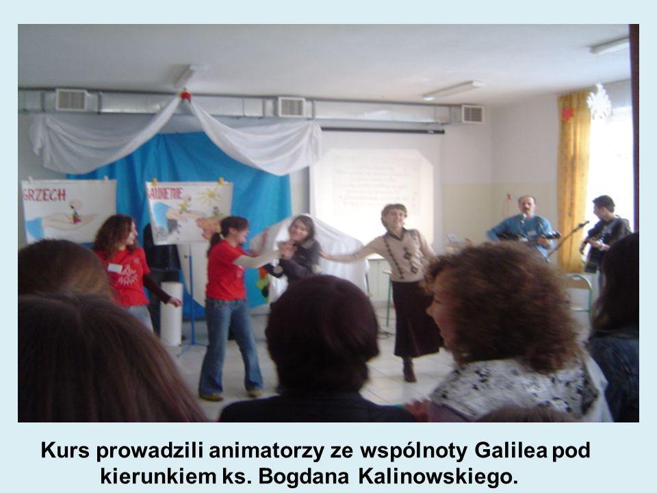 Kurs prowadzili animatorzy ze wspólnoty Galilea pod kierunkiem ks. Bogdana Kalinowskiego.