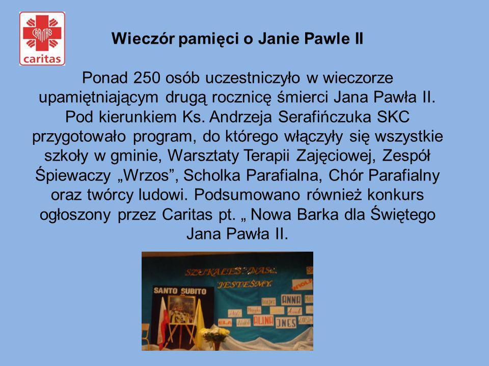 Wieczór pamięci o Janie Pawle II Ponad 250 osób uczestniczyło w wieczorze upamiętniającym drugą rocznicę śmierci Jana Pawła II. Pod kierunkiem Ks. And