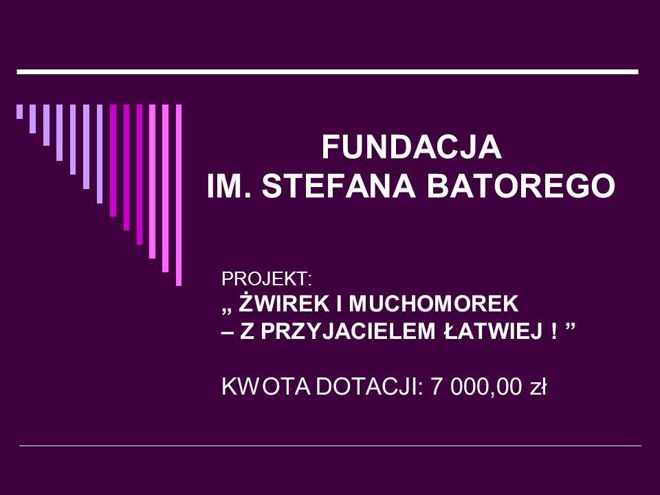 Projekt Żwirek i Muchomorek – z przyjacielem łatwiej.