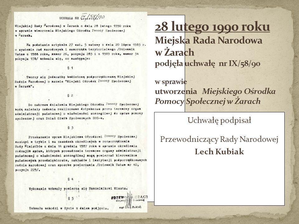 Uchwałę podpisał Przewodniczący Rady Narodowej Lech Kubiak