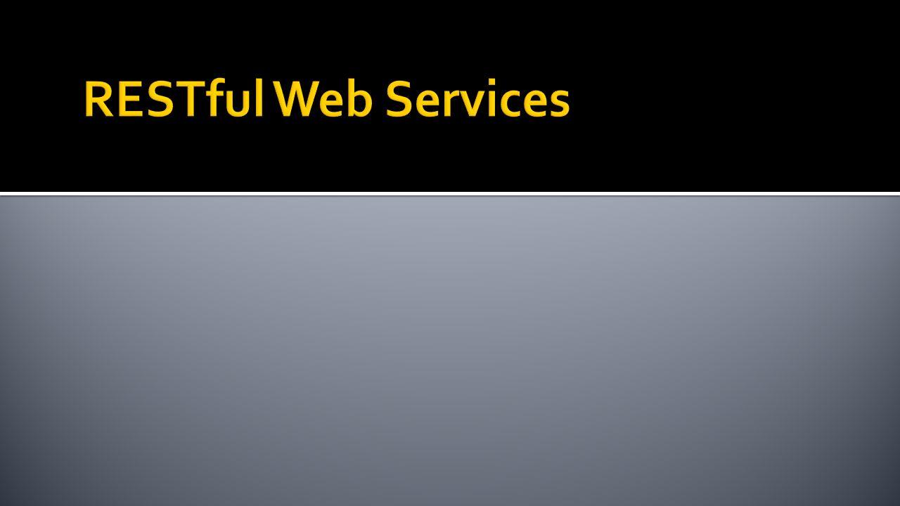REpresentational State Transfer Praca doktorska Roya Fieldinga Architectural Styles and the Design of Network-based Software Architectures (The REST bible) http://www.ics.uci.edu/~fielding/pubs/dissertation/top.htm Określony poprzez zbiór ograniczeń (constraints), które należy spełnić Odpowiada zasadom leżącym u podstaw HTTP Web, HTTP, URI – jedna z możliwych realizacji