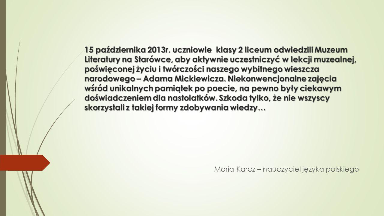 Maria Karcz – nauczyciel języka polskiego
