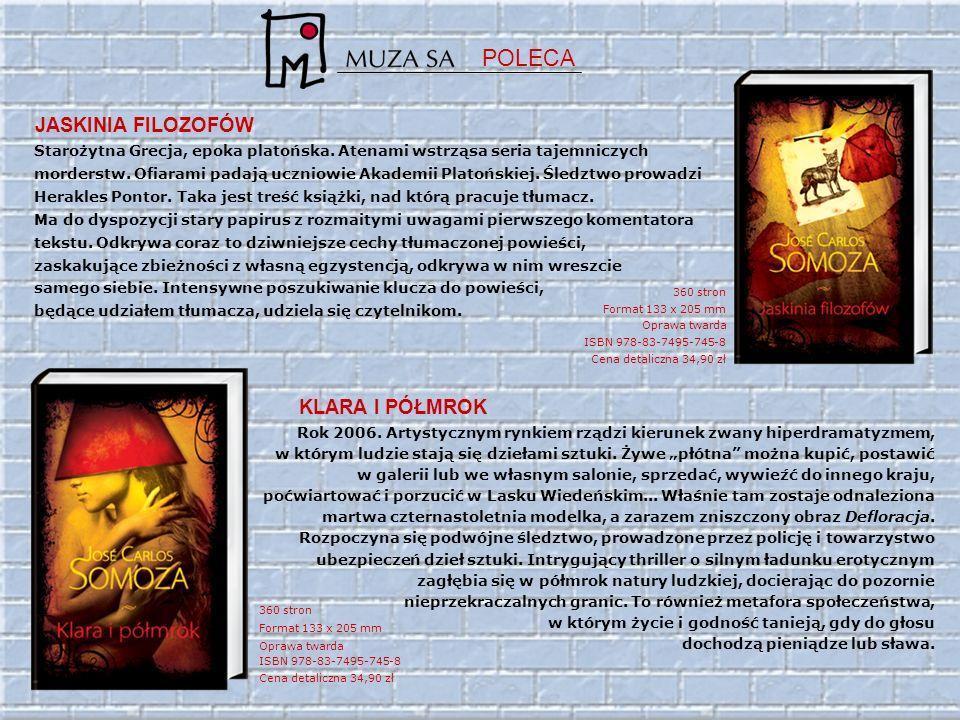 360 stron Format 133 x 205 mm Oprawa twarda ISBN 978-83-7495-745-8 Cena detaliczna 34,90 zł 360 stron Format 133 x 205 mm Oprawa twarda ISBN 978-83-7495-745-8 Cena detaliczna 34,90 zł Starożytna Grecja, epoka platońska.