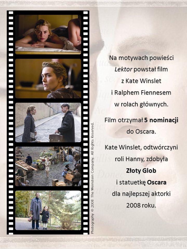 Na motywach powieści Lektor powstał film z Kate Winslet i Ralphem Fiennesem w rolach głównych.