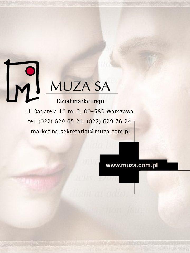 Dział marketingu ul. Bagatela 10 m. 3, 00-585 Warszawa tel.