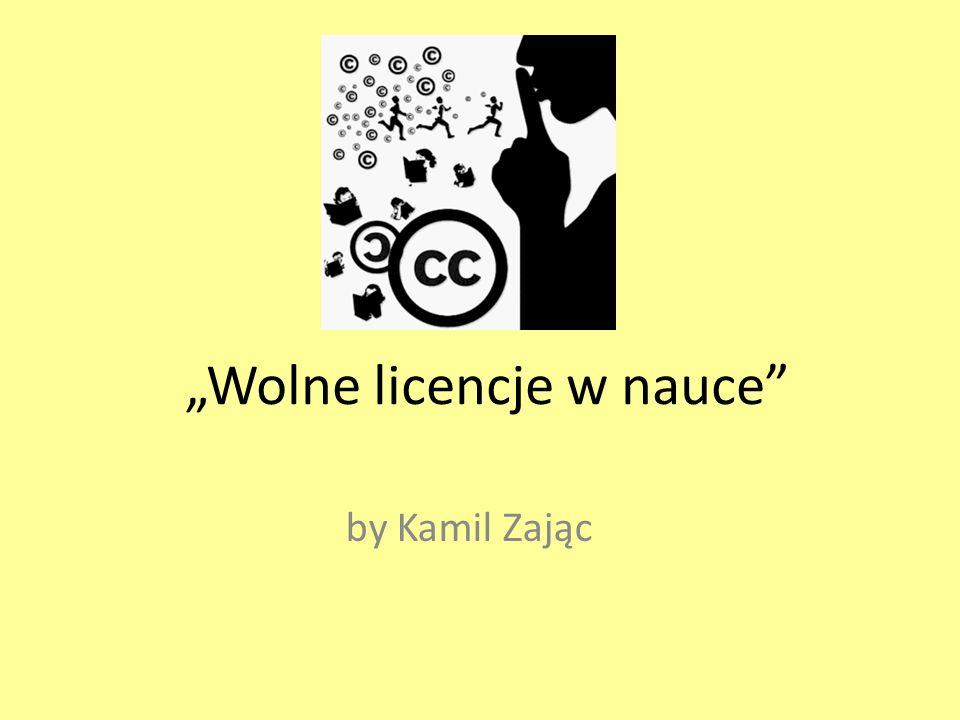 Wolne licencje Creative Commons Licencje CC stworzono w celu uproszczenia korzystania z praw autorskich w sieci i dzielenia się twórczością w sposób swobodny.