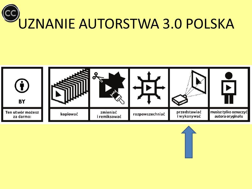 UZNANIE AUTORSTWA - NA TYCH SAMYCH WARUNKACH 3.0 POLSKA