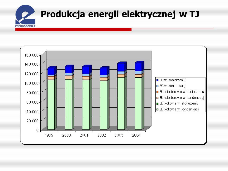 Produkcja energii elektrycznej w TJ