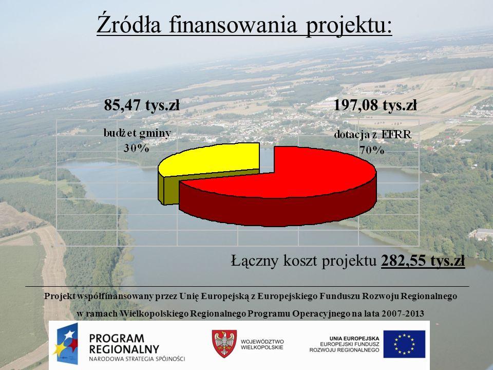 Źródła finansowania projektu: Łączny koszt projektu 282,55 tys.zł 197,08 tys.zł85,47 tys.zł Projekt współfinansowany przez Unię Europejską z Europejsk