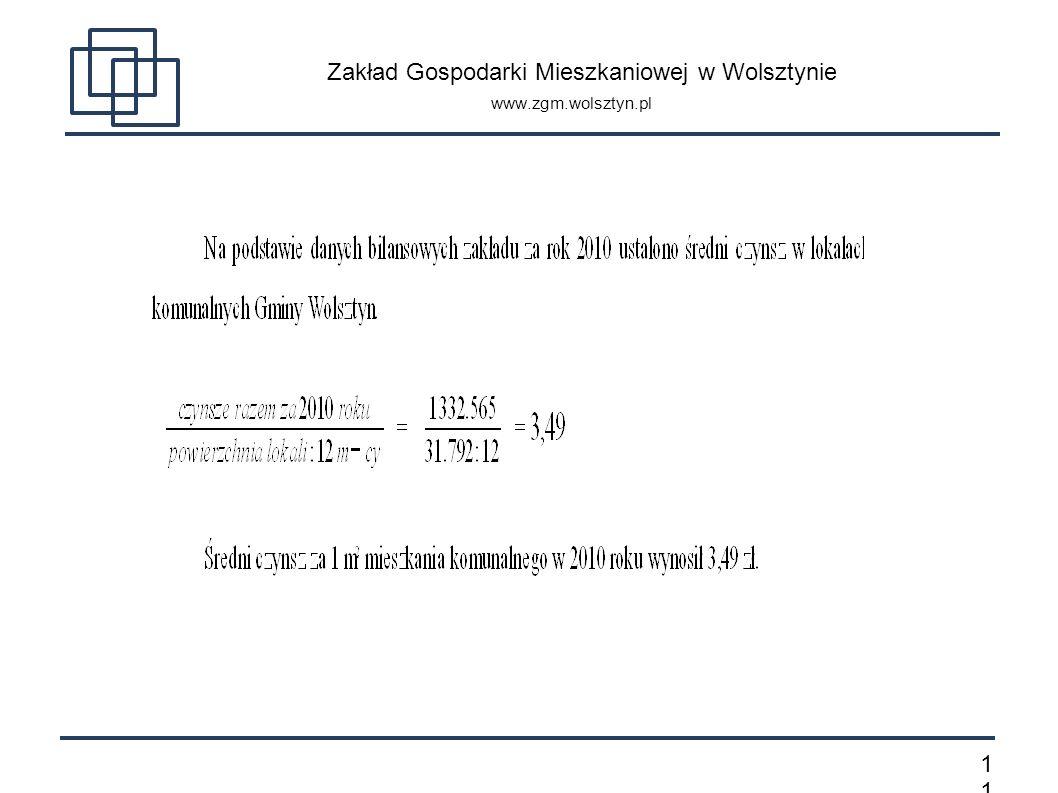 1 Zakład Gospodarki Mieszkaniowej w Wolsztynie www.zgm.wolsztyn.pl