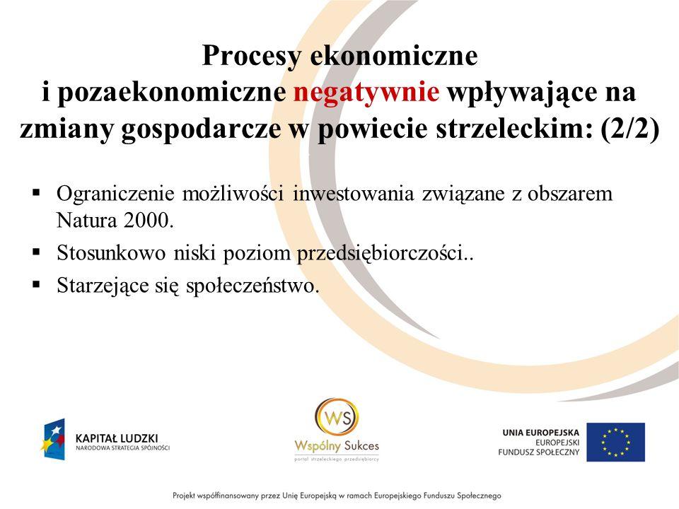 Procesy ekonomiczne i pozaekonomiczne negatywnie wpływające na zmiany gospodarcze w powiecie strzeleckim: (2/2) Ograniczenie możliwości inwestowania z