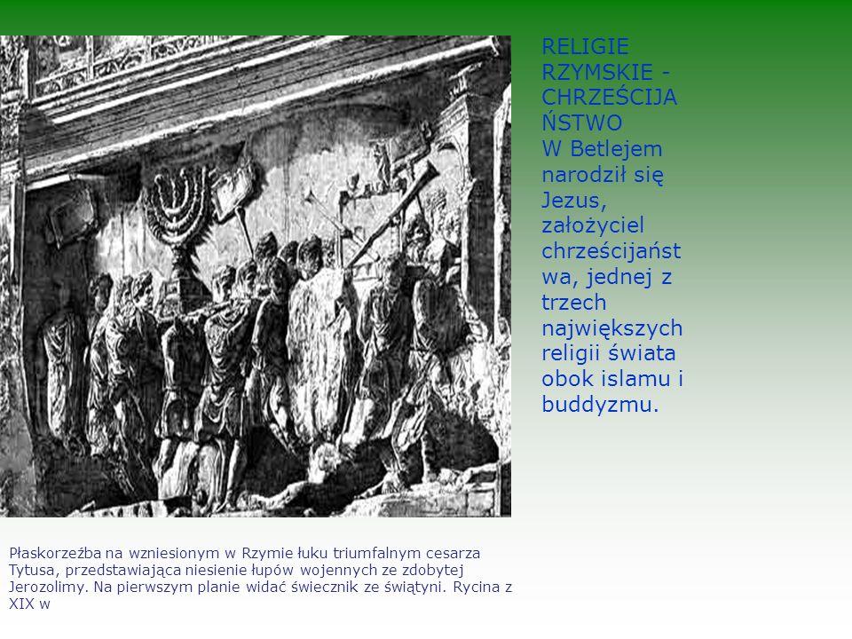 Płaskorzeźba na wzniesionym w Rzymie łuku triumfalnym cesarza Tytusa, przedstawiająca niesienie łupów wojennych ze zdobytej Jerozolimy.