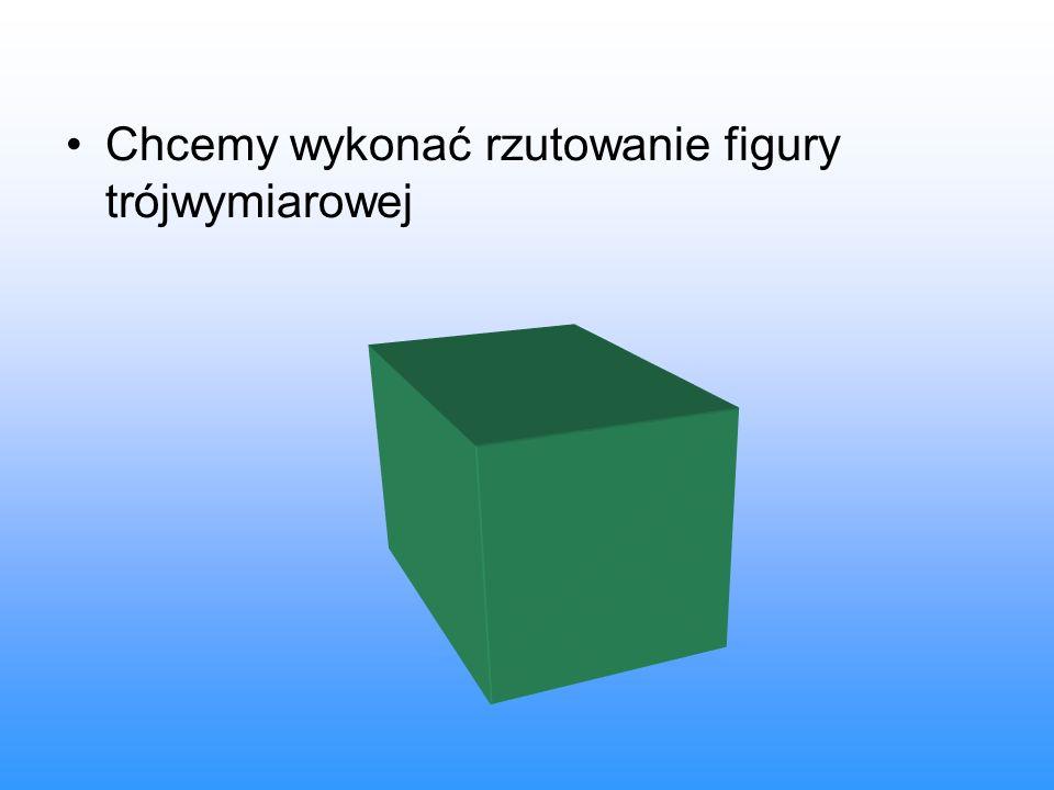 Chcemy wykonać rzutowanie figury trójwymiarowej