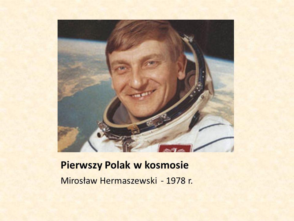 Pierwszy Polak w kosmosie Mirosław Hermaszewski - 1978 r.