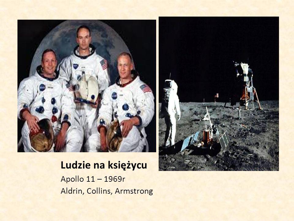 Ludzie na księżycu Apollo 11 – 1969r Aldrin, Collins, Armstrong