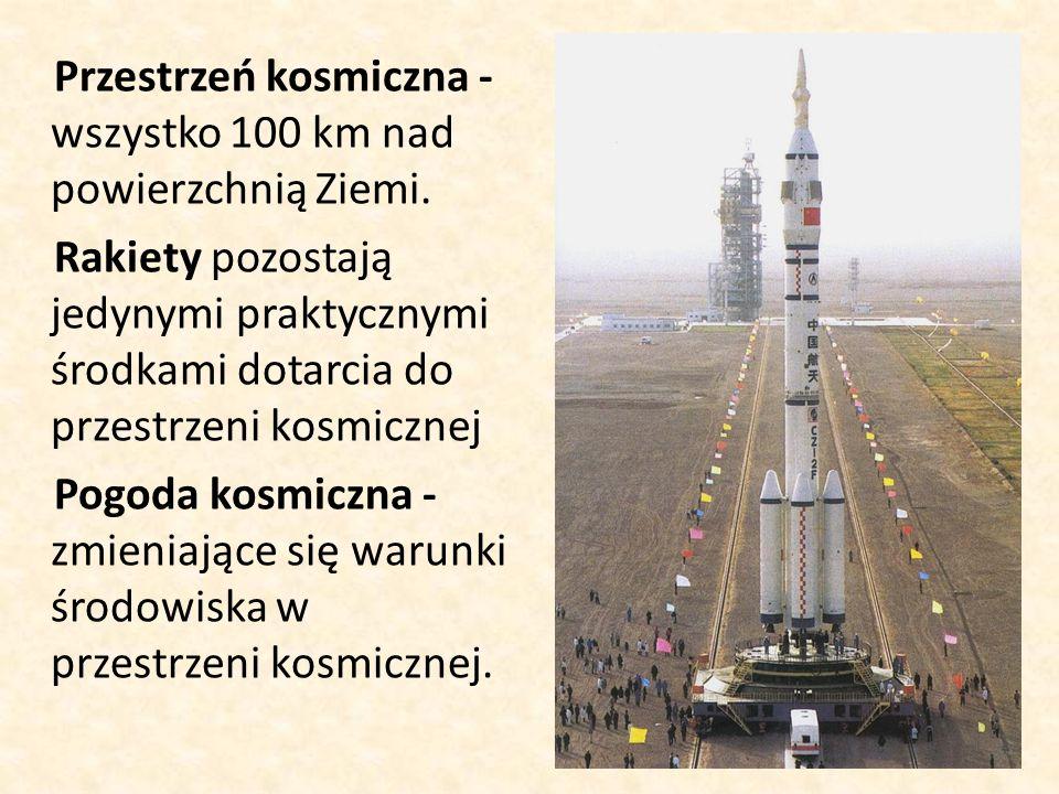 Przestrzeń kosmiczna - wszystko 100 km nad powierzchnią Ziemi.