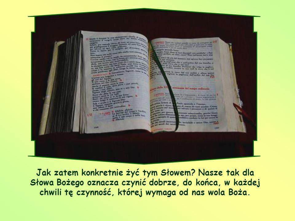Oto ja służebnica Pańska, niech mi się stanie według słowa twego (Łk 1,38)