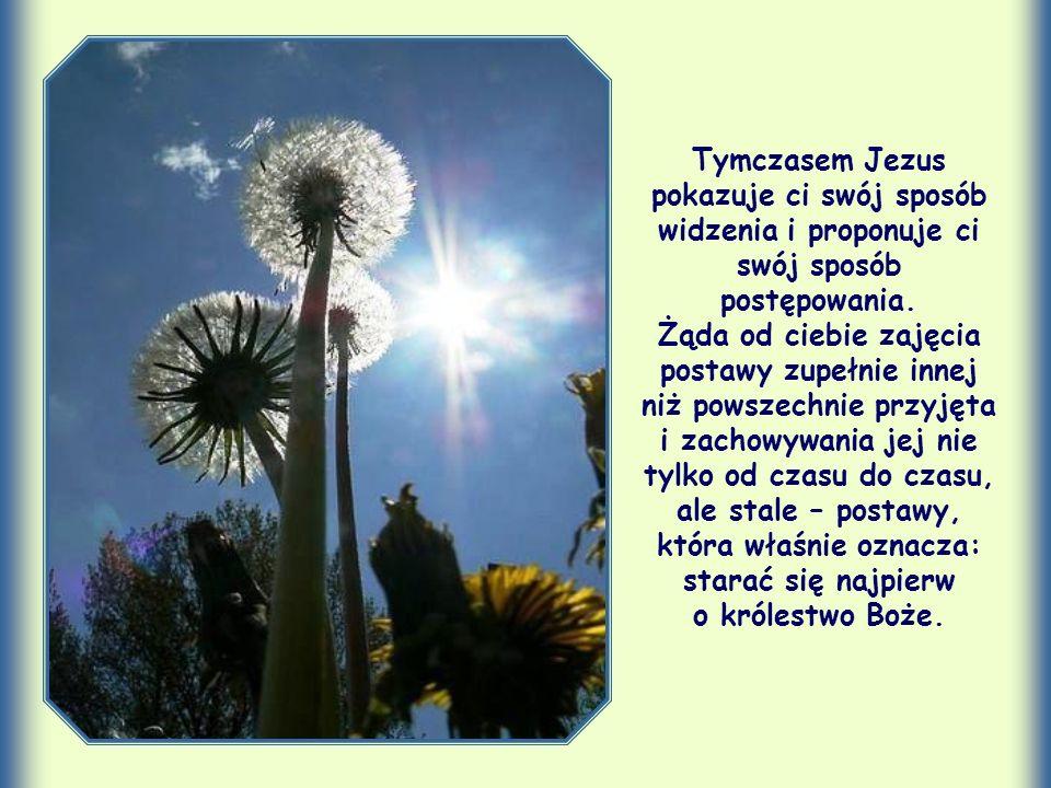 Tymczasem Jezus pokazuje ci swój sposób widzenia i proponuje ci swój sposób postępowania.