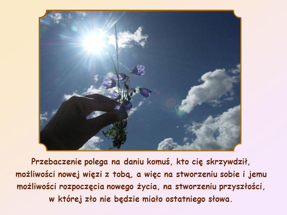 Przebaczenie nie jest obojętnością. Przebaczenie jest aktem woli i świadomości, a więc wolności, i polega na akceptowaniu brata takim, jakim jest, nie