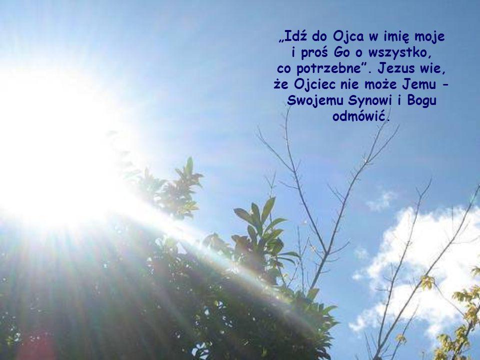 Popatrz: Jezus, który żył wśród nas, zna niezliczone twoje i nasze potrzeby i lituje się nad nami.