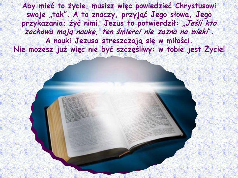 Tutaj słowo wierzyć oznacza rzecz bardzo poważną, bardzo istotną: nie chodzi tylko o przyjęcie prawd, które głosił Jezus, lecz o przylgnięcie do nich
