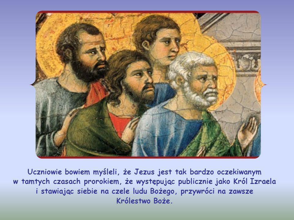 Juda Tadeusz pyta więc, dlaczego ukaże się tylko im, a nie wystąpi publicznie. Uczeń ten pragnął, by Jezus dokonał wielkiej manifestacji wobec tłumów,