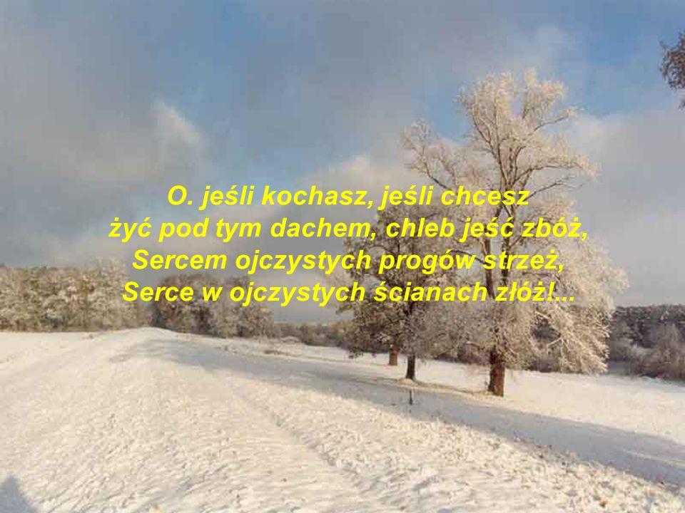 Kochasz ty dom, rodzinny dom, Co wpośród burz, w zwątpienia dnie, Gdy w duszę ci uderzy grom, Wspomnieniem swym ocala cię?