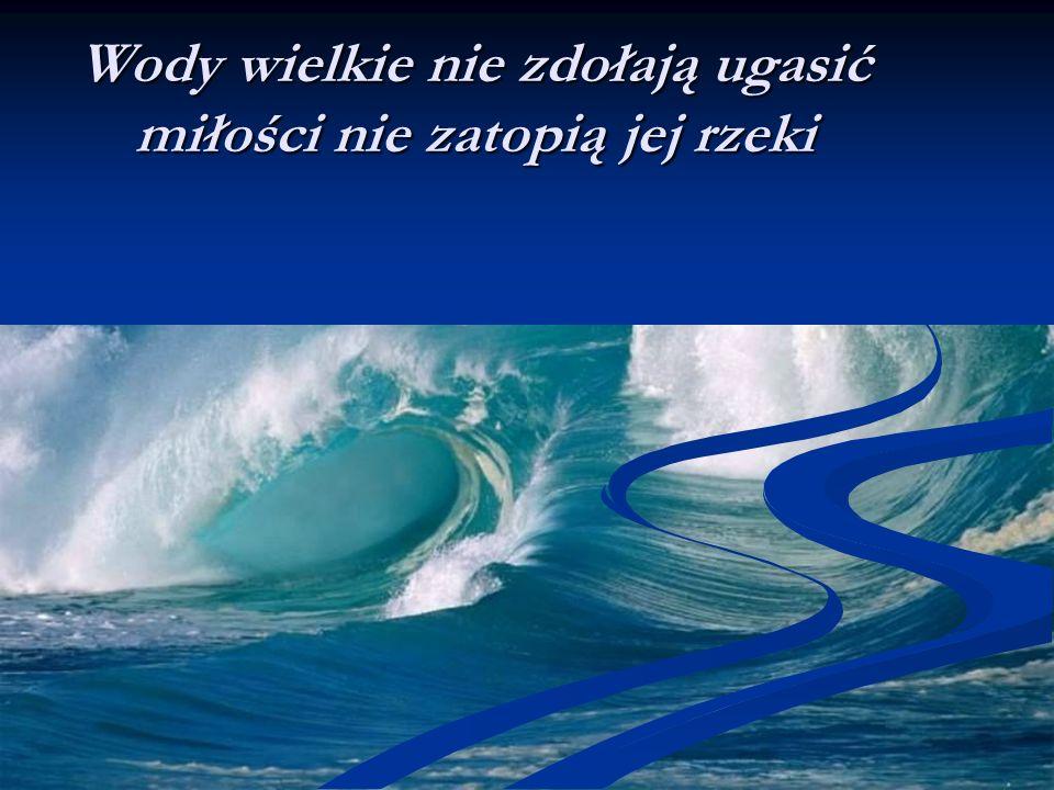 Wody wielkie nie zdołają ugasić miłości nie zatopią jej rzeki
