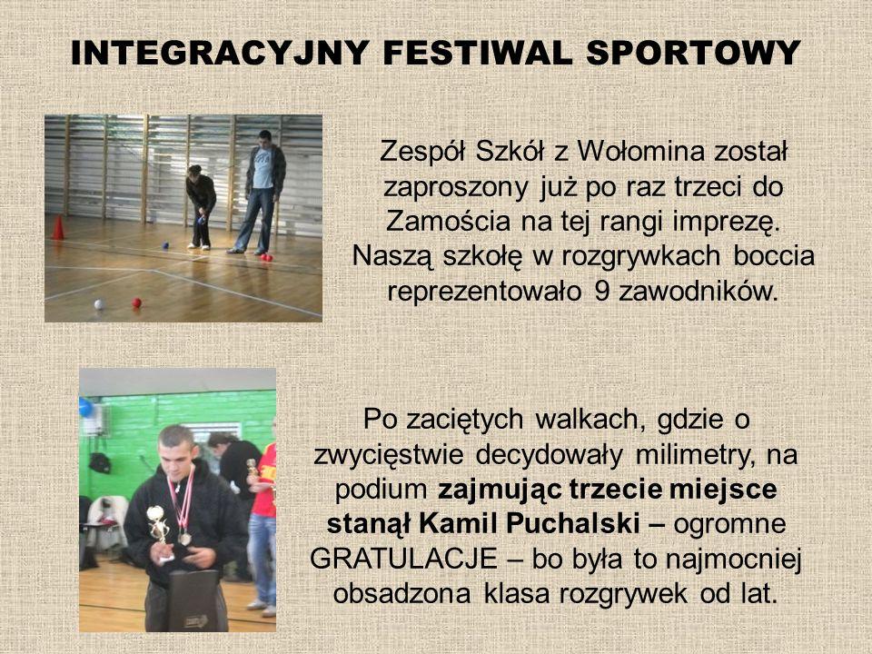 INTEGRACYJNY FESTIWAL SPORTOWY Po zaciętych walkach, gdzie o zwycięstwie decydowały milimetry, na podium zajmując trzecie miejsce stanął Kamil Puchals