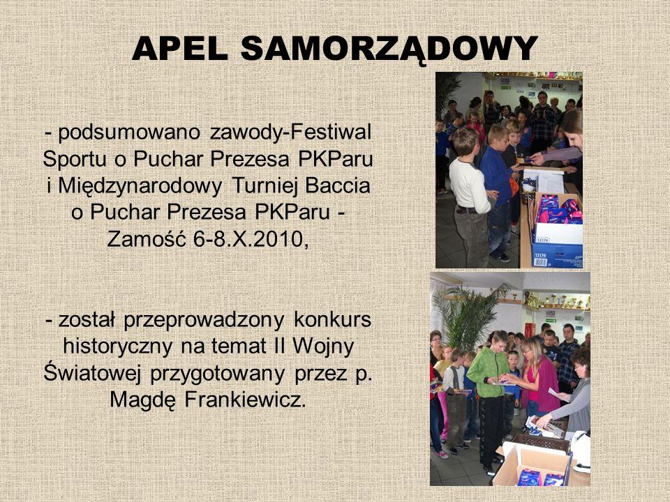 APEL SAMORZĄDOWY - podsumowano zawody-Festiwal Sportu o Puchar Prezesa PKParu i Międzynarodowy Turniej Baccia o Puchar Prezesa PKParu - Zamość 6-8.X.2
