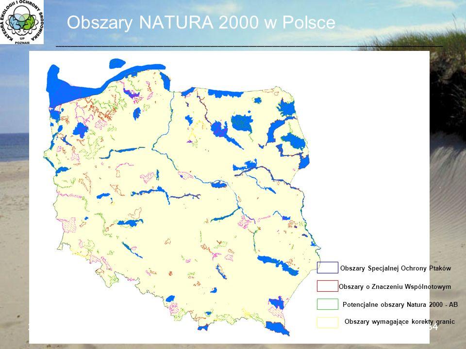 Obszary NATURA 2000 w Polsce 24.10.2009Seminarium WMiIŚ34 ____________________________________________________________________________________________