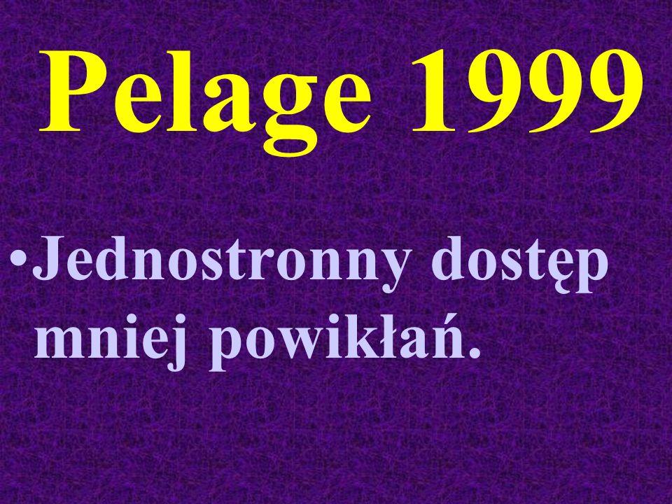 Pelage 1999 Jednostronny dostęp mniej powikłań.