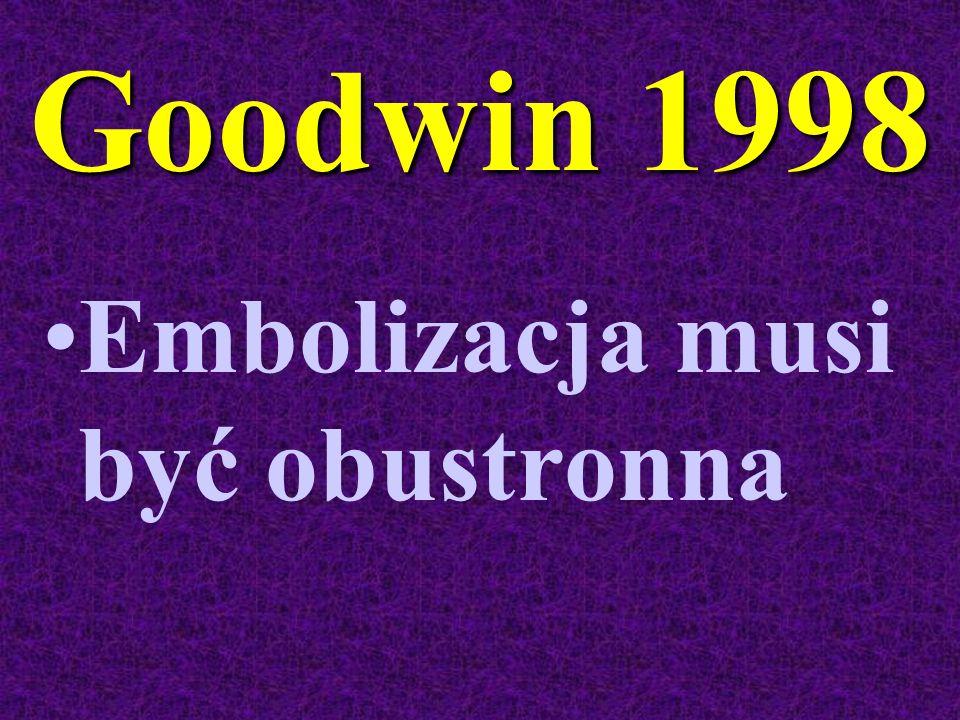 Goodwin 1998 Embolizacja musi być obustronna