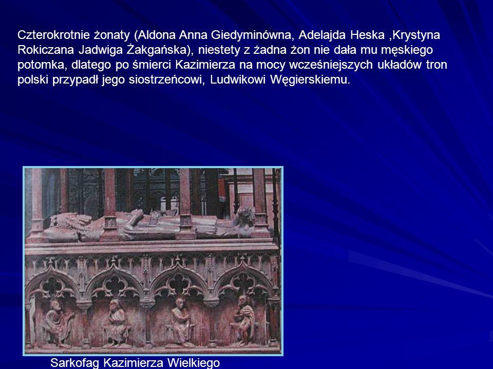 Czterokrotnie żonaty (Aldona Anna Giedyminówna, Adelajda Heska,Krystyna Rokiczana Jadwiga Żakgańska), niestety z żadna żon nie dała mu męskiego potomk
