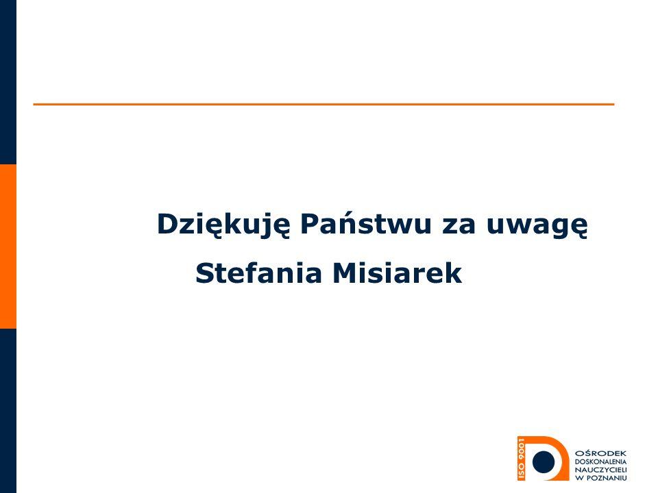 Dziękuję Państwu za uwagę Stefania Misiarek