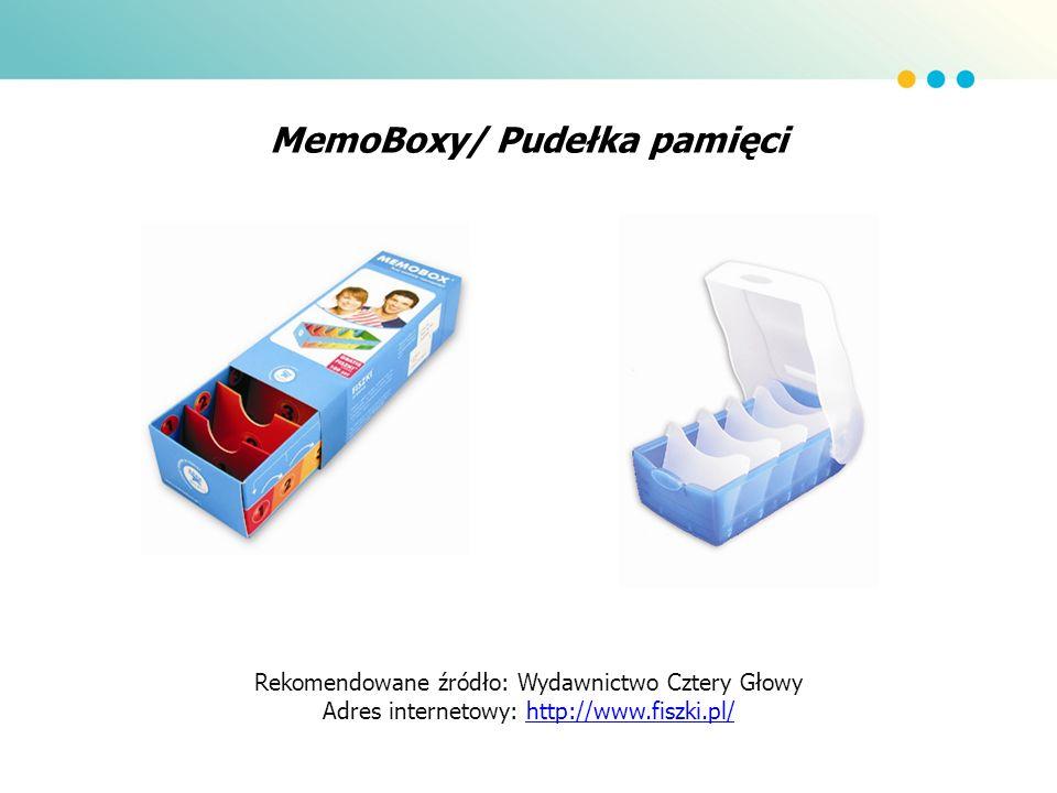 MemoBoxy/ Pudełka pamięci Rekomendowane źródło: Wydawnictwo Cztery Głowy Adres internetowy: http://www.fiszki.pl/http://www.fiszki.pl/