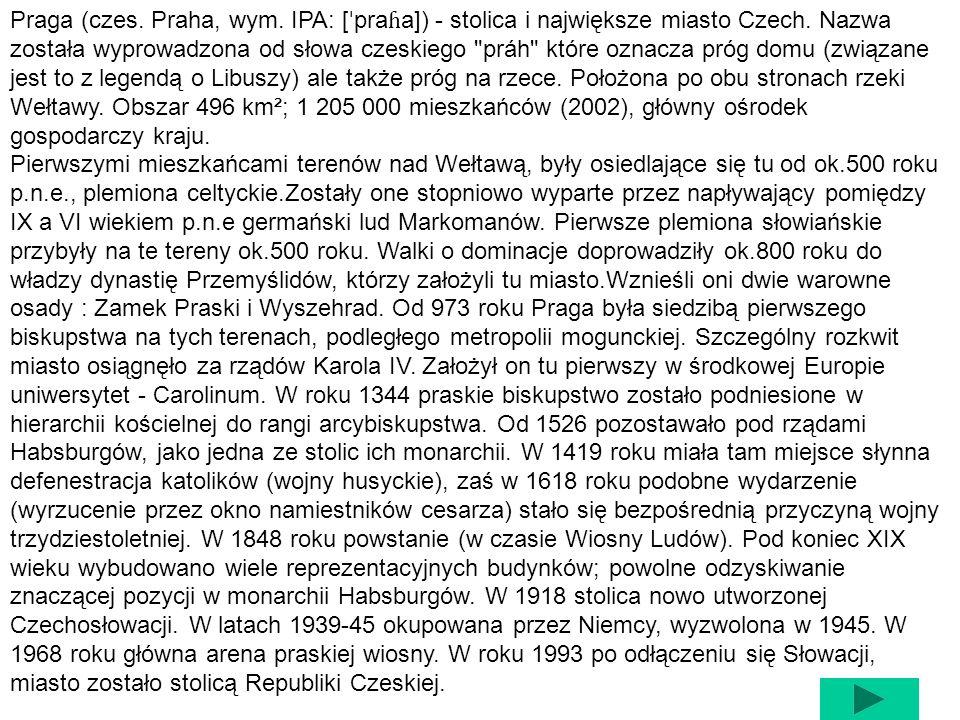 Praga z lotu ptaka HERBFLAGA