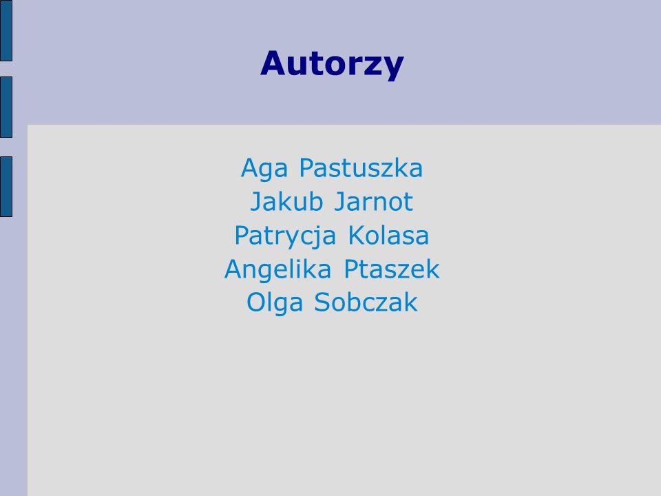 Autorzy Aga Pastuszka Jakub Jarnot Patrycja Kolasa Angelika Ptaszek Olga Sobczak