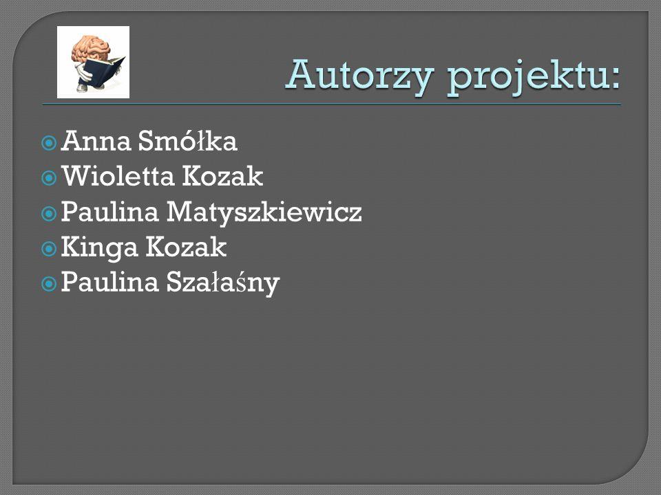Anna Smó ł ka Wioletta Kozak Paulina Matyszkiewicz Kinga Kozak Paulina Sza ł a ś ny