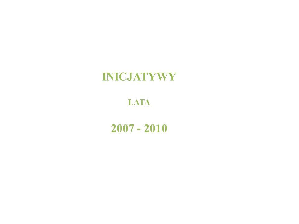 INICJATYWY LATA 2007 - 2010