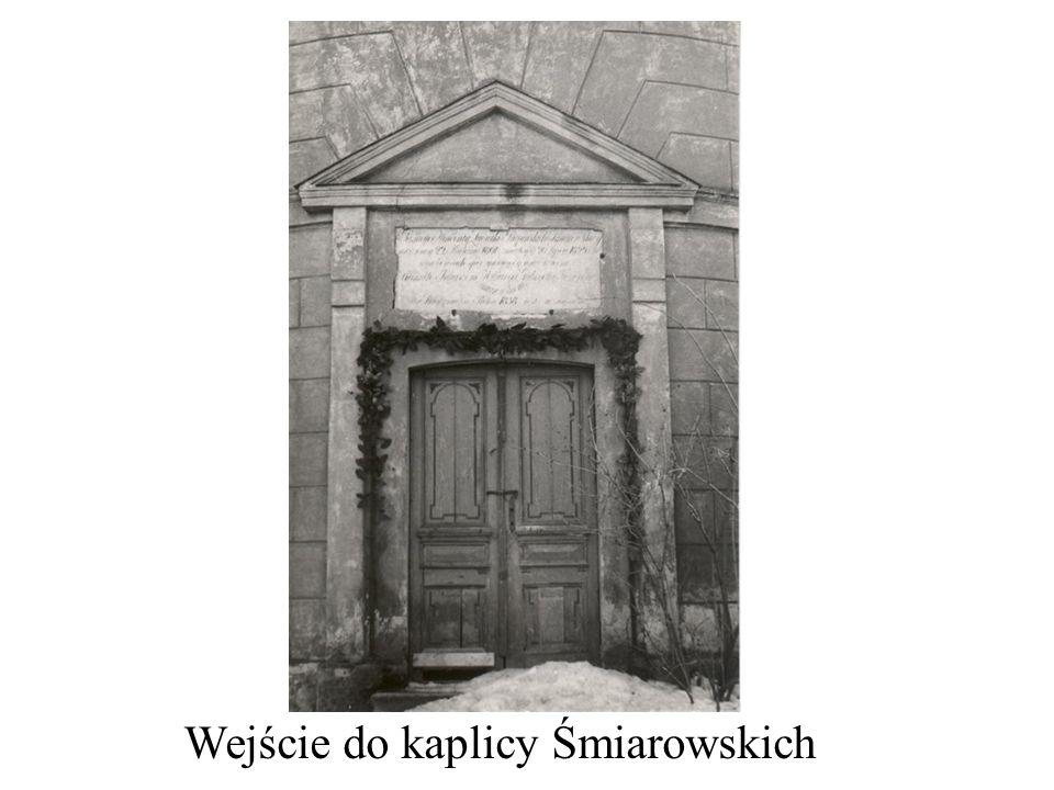 Wejście do kaplicy Śmiarowskich