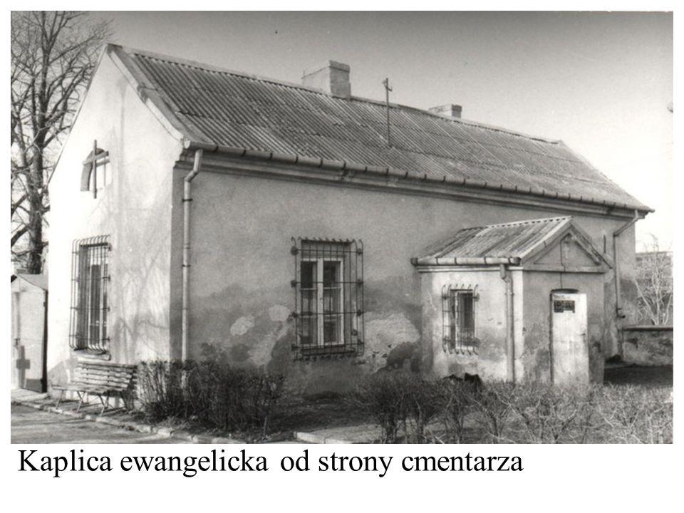 Kaplica ewangelicka od strony cmentarza