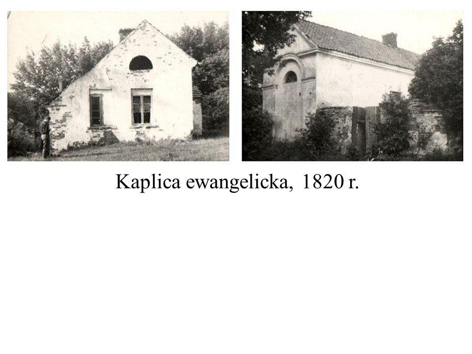 Kaplica ewangelicka, 1820 r.