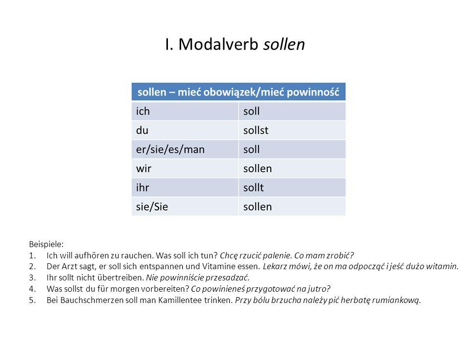 II.Reflexivpronomen im Dativ und Akkusativ.